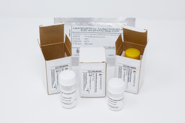 5 TEST USP-UFH Anti-IIa Heparin QC Kit