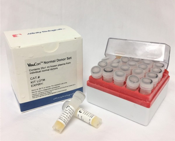 VisuCon Normal Donor Set – 25 individual donor plasmas – Frozen (Terms A & B)