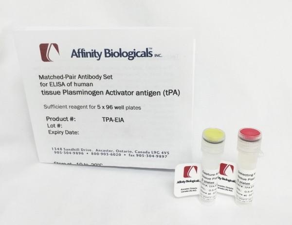 Tissue Plasminogen Activator – Paired Antibody Set for ELISA