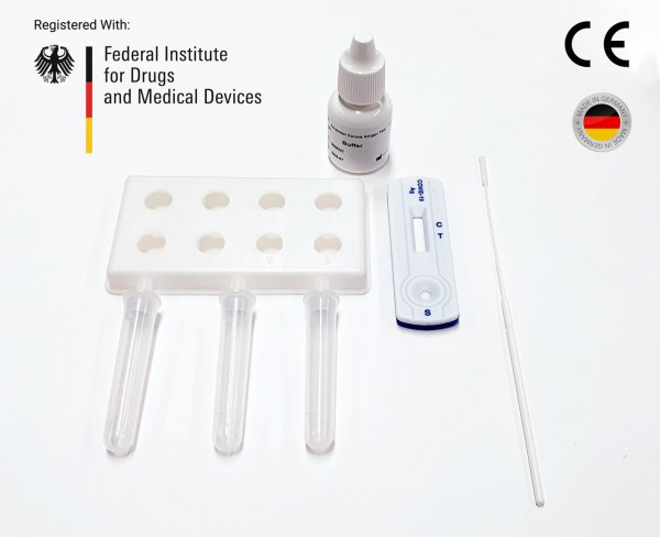 COVID-19 Rapid Antigen Test (CE Marked 15min Nasal Swab) 10 Test Kit